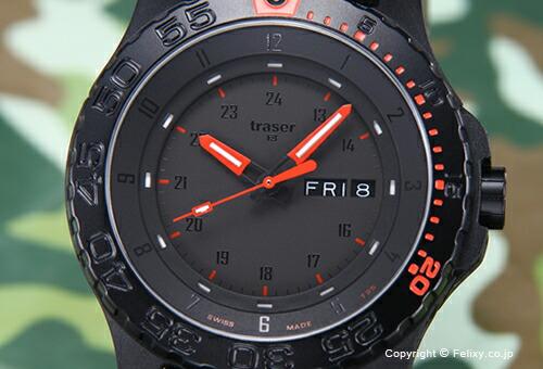 【TRASE4】トレーサー 腕時計 Type6 Mil-G Red Combat (タイプ6 ミル-G レッドコンバット) ブラック P6600.RED COMBAT