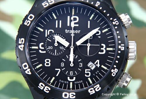 【TRASER】トレーサー 腕時計 Officer Chronograph Pro (オフィサー クロノグラフ プロ) ブラック P6704.4A3.I2.01