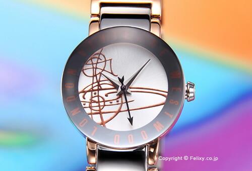 【Vivienne Westwood】ヴィヴィアン ウエストウッド 腕時計 Sudbury (サドベリー) シルバー×ローズゴールド レディス VV089RSSL