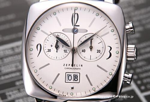 【ZEPPELIN】 ツェッペリン 腕時計 LZ121 Mediterranee (LZ121 メディテラネ) クロノグラフ シルバー/ブラウンレザーストラップ 7784-4