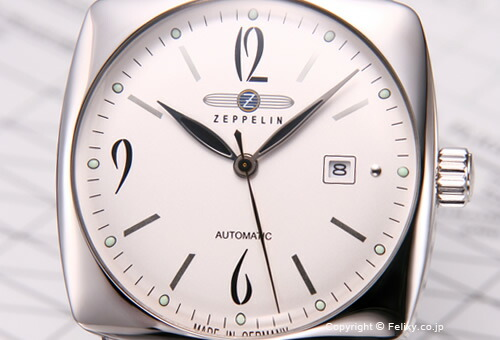 【ZEPPELIN】 ツェッペリン 腕時計 LZ121 Mediterranee (LZ121 メディテラネ) シルバー/ダークブラウンレザーストラップ 7750-4