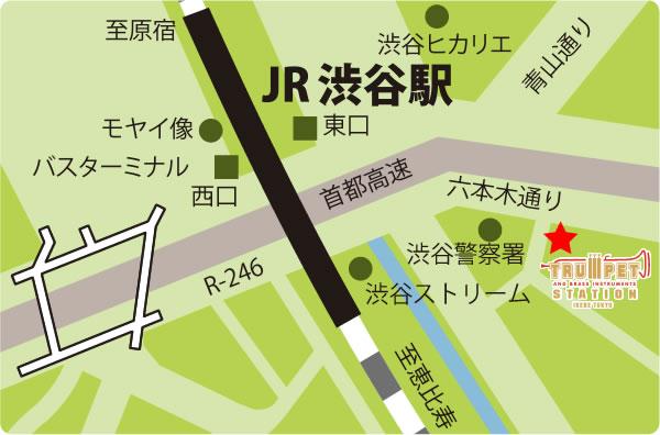 トランペットステーション地図