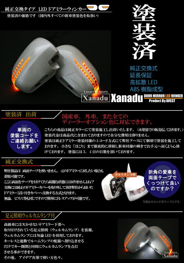 [Xanado]純正交換ドアミラーウィンカーカバーLED