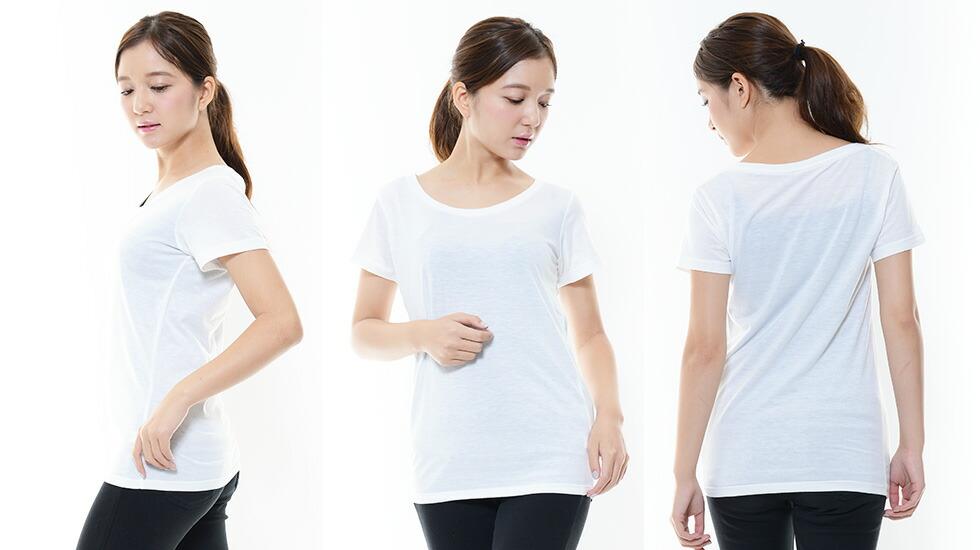 ウィメンズベーシックTシャツ