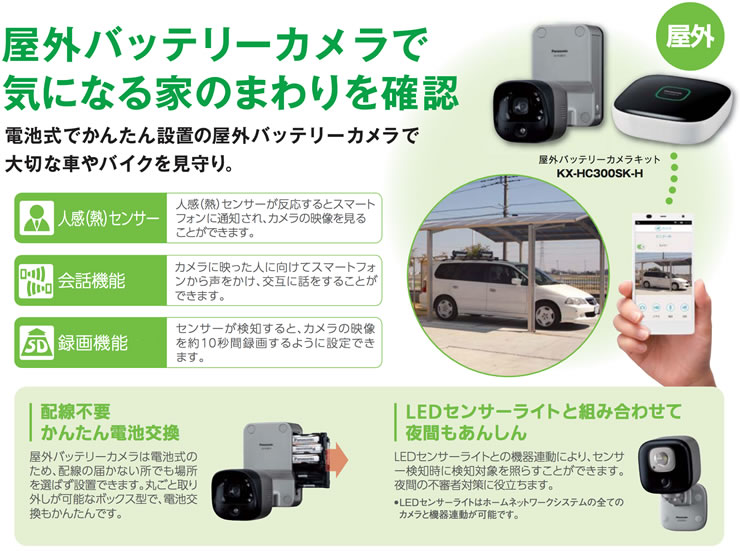 屋外バッテリーカメラで気になる家のまわりを確認