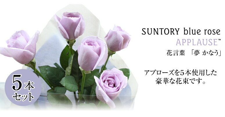 SUNTORY blue rose APPLAUSE