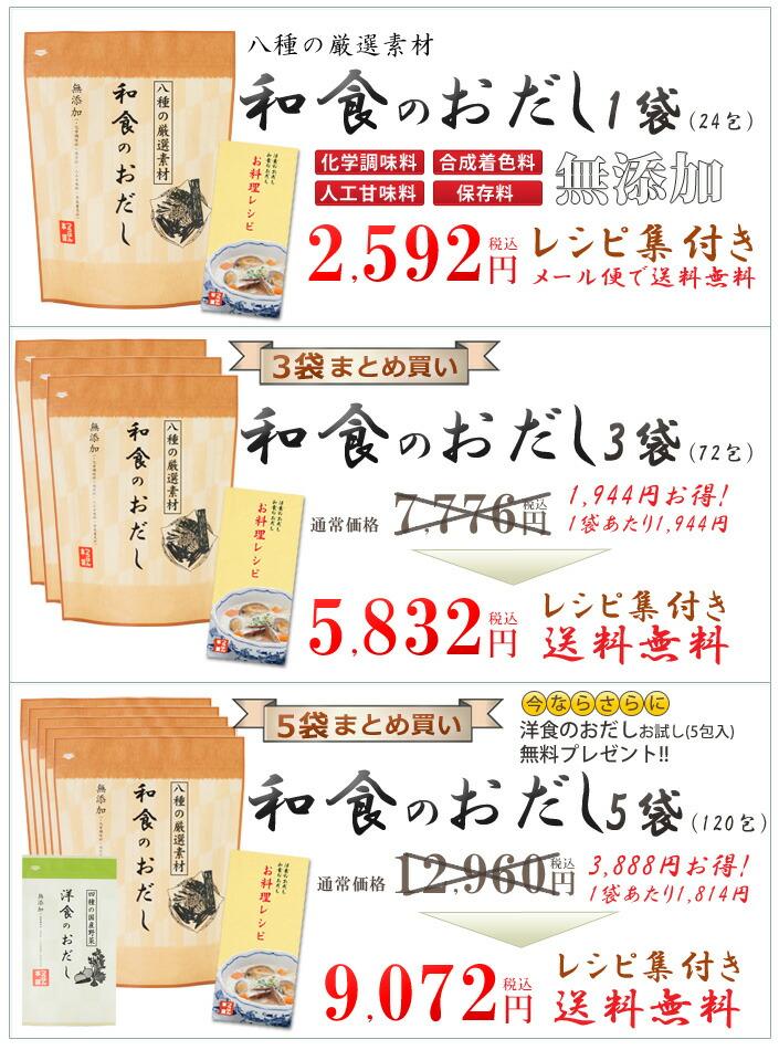 和食のおだし(和風だし)1袋(24包入り)