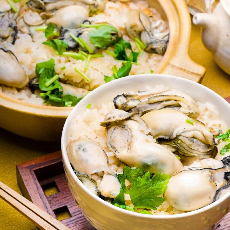 牡蠣土鍋ご飯
