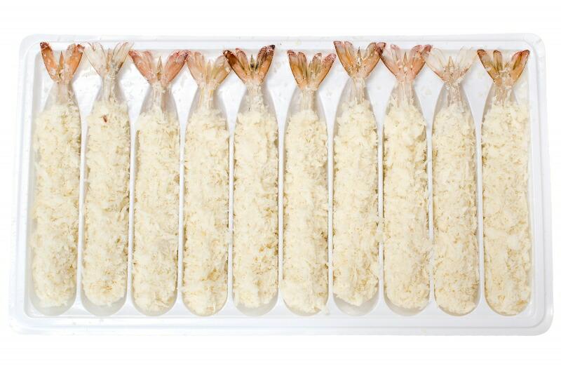 ジャンボエビフライ 冷凍パッケージ開き
