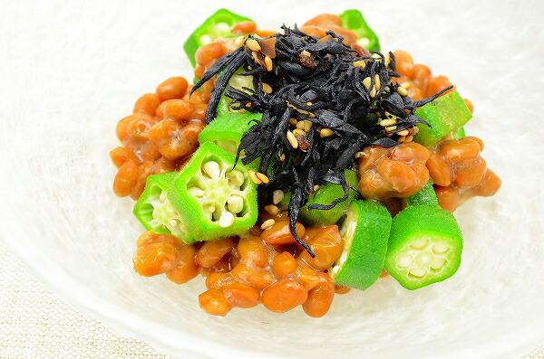 梅の実入り味ひじき オクラ納豆