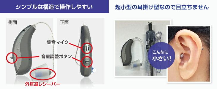 アクトス補聴器NR シンプルな構造