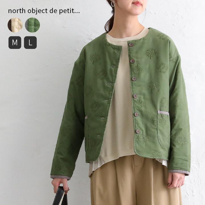 north object de petit... フォレストドット刺繍コーデュロイジャケット