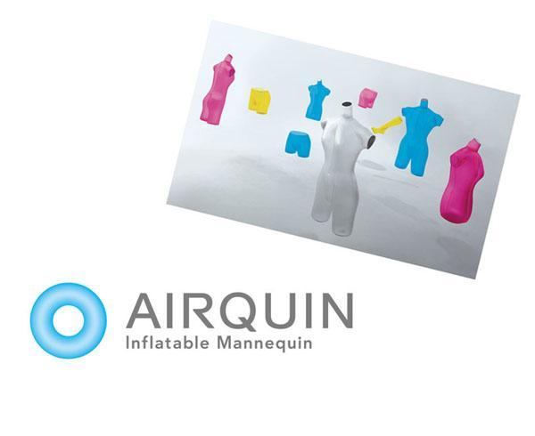 airquin エアキン ビニール製マネキン main body パールホワイト 特産