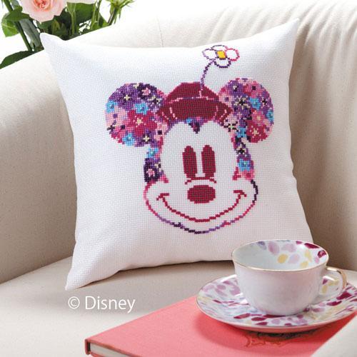 オリムパス 6049 ししゅうキット ディズニー ミニクッション(ミニーマウス)「通販百貨 Happy Puppy」