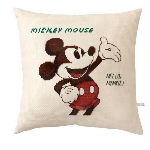 オリムパス 6032 ししゅうキット クッション ディズニー ミッキーマウス「通販百貨 Happy Puppy」