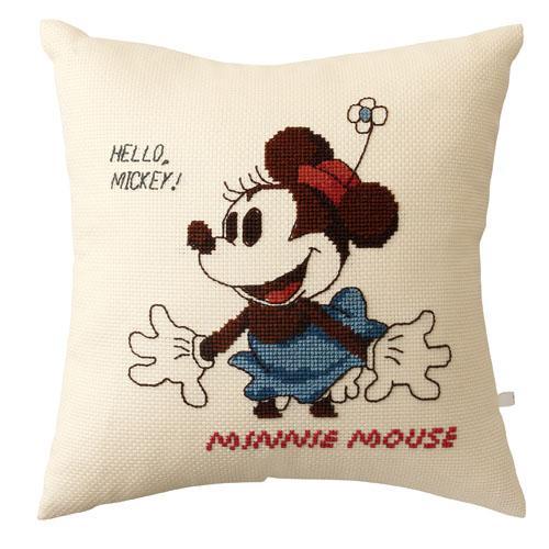 オリムパス 6033 ししゅうキット クッション ディズニー ミニーマウス「通販百貨 Happy Puppy」
