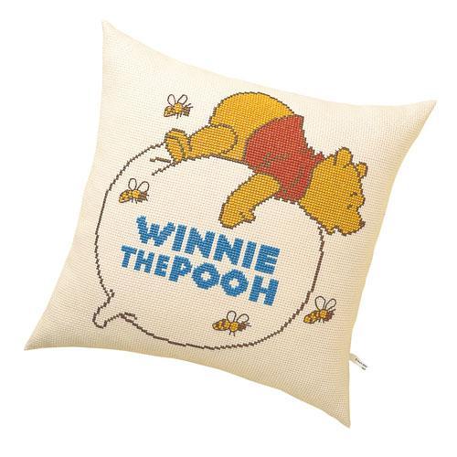 オリムパス 5892 ししゅうキット クッション ディズニー 風船にのるプー「通販百貨 Happy Puppy」