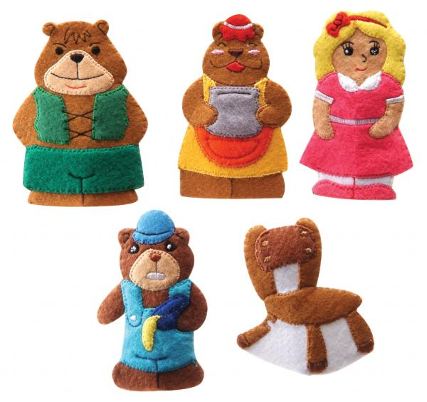 With bear of three story gloves (green)