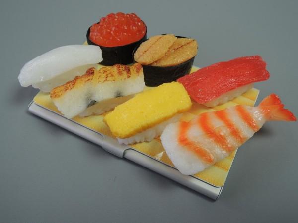 日本職人が作る 食品サンプル名刺ケース ミニチュア寿司 IP-190「NET Asahi」