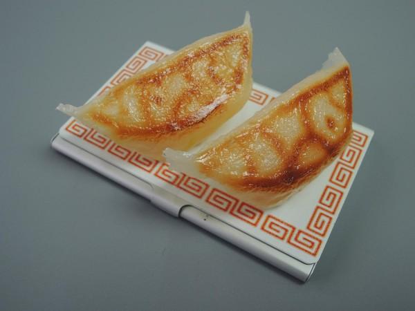 日本職人が作る 食品サンプル名刺ケース ぎょうざ IP-191「NET Asahi」