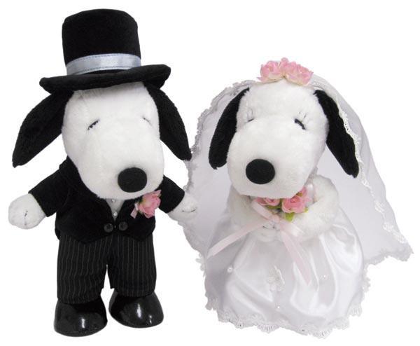 SNOOPY(スヌーピー) スヌーピー&ベル ウェディング 洋風 ぬいぐるみ L 182076「通販百貨 Happy Puppy」