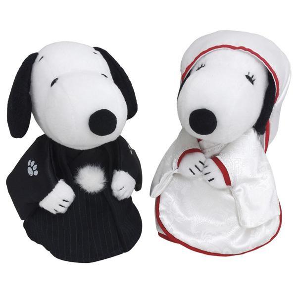 SNOOPY(スヌーピー) スヌーピー&ベル ウェディング 和風 ぬいぐるみ 182073 「通販百貨 Happy Puppy」