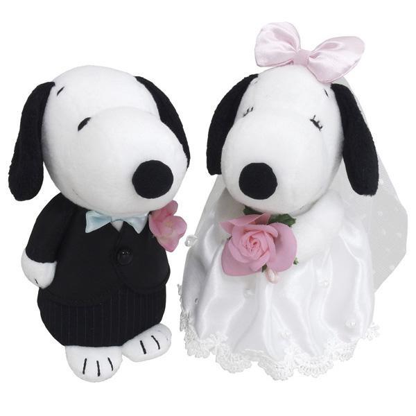 SNOOPY(スヌーピー) スヌーピー&ベル ウェディング 洋風 ぬいぐるみ 182074 「通販百貨 Happy Puppy」