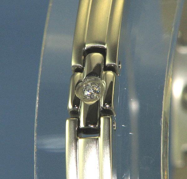 MARE(マーレ) スワロフスキー&ゲルマニウムブレスレット PT/IP ミラー 136S 17cm H9300-08S「通販百貨Happy Puppy」