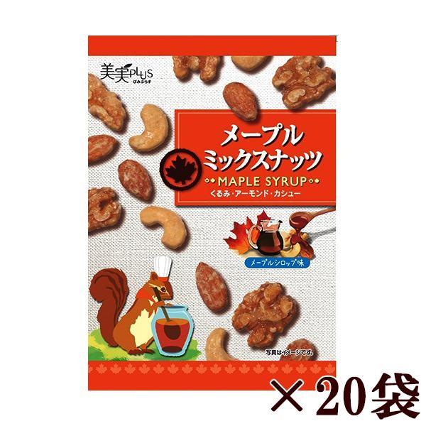 福楽得 美実PLUS メープルミックスナッツ 37g×20袋セット「通販百貨 Happy Puppy」