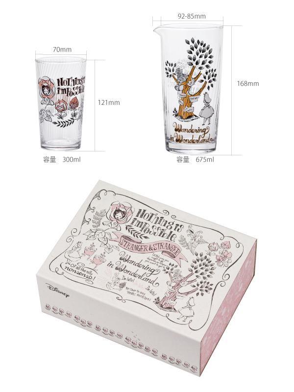 Disney アリススイート カラフェ&グラスセット S-6164「通販百貨 Happy Puppy」