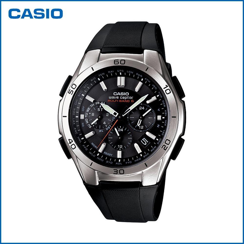 CASIO カシオ wave ceptor ソーラークロノグラフ WVQ-M410-1AJF 腕時計/電波/男性用/紳士用「通販百貨 Happy Puppy」