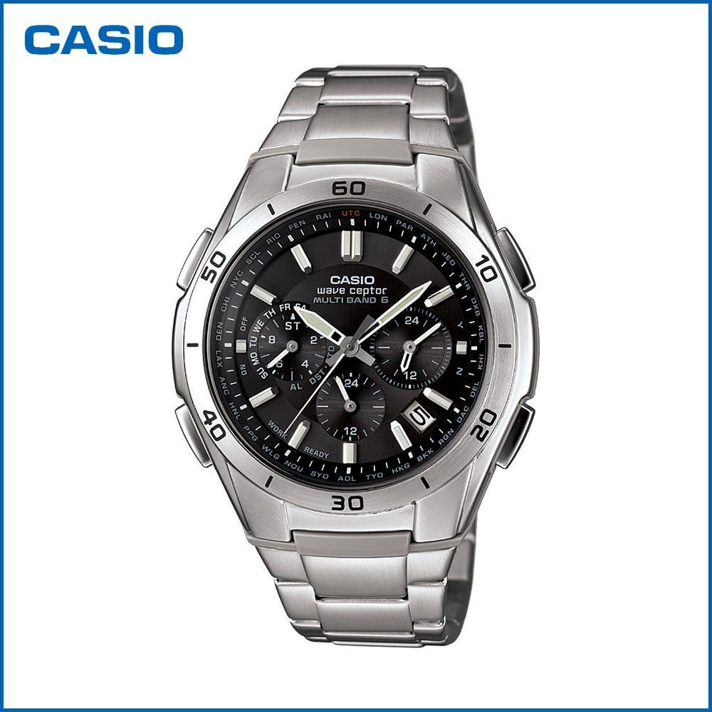 CASIO カシオ wave ceptor ソーラークロノグラフ WVQ-M410DE-1A2JF 腕時計/電波/男性用/紳士用「通販百貨 Happy Puppy」