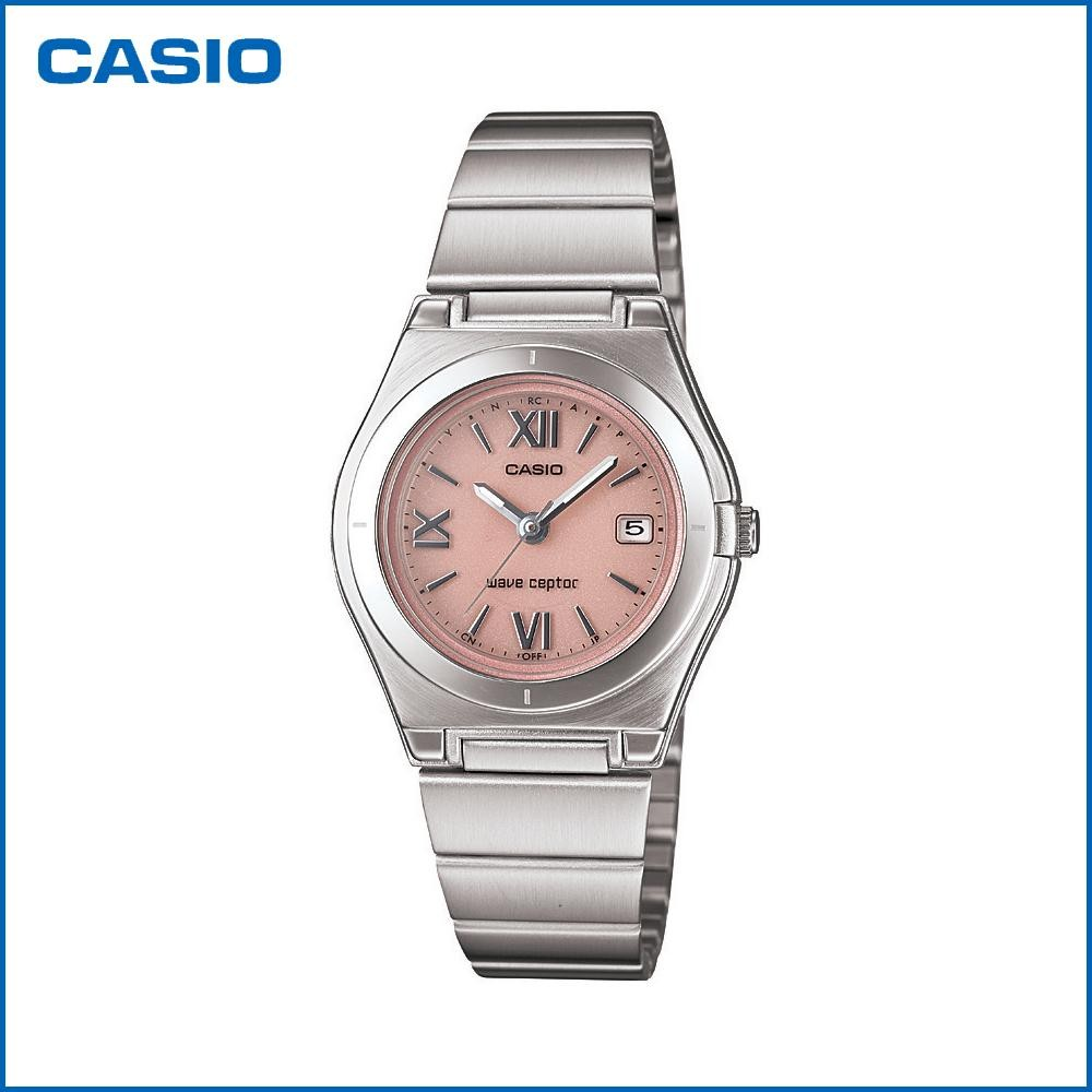 CASIO カシオ wave ceptor ソーラーアナログ LWQ-10DJ-4A1JF 腕時計/電波/女性用/婦人用 「通販百貨Happy Puppy」