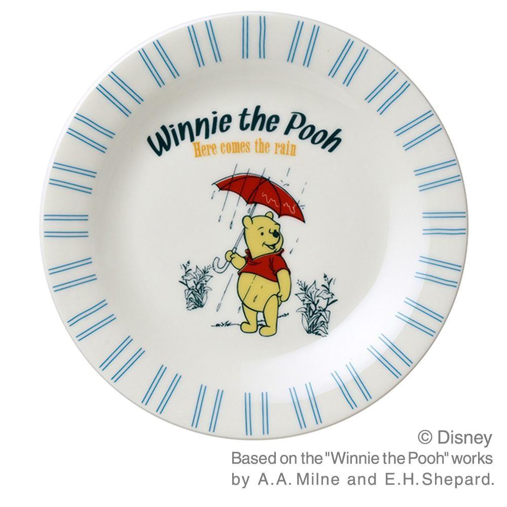 ディズニー ヴィンテージプー ケーキプレート 3枚セット 青 21264「通販百貨 Happy Puppy」