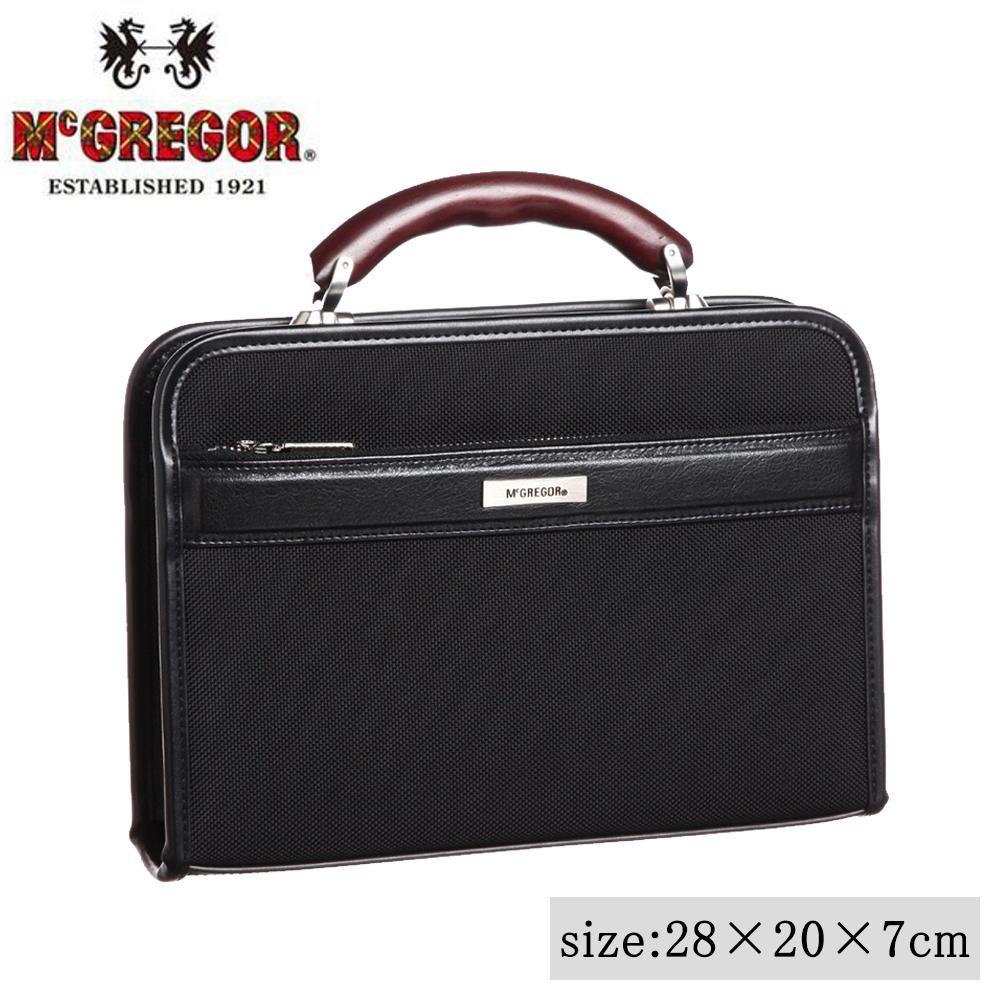 日本製 ビジネスバッグ McGREGOR(マックレガー) ダレスバッグ 21956 ブラック「通販百貨 Happy Puppy」
