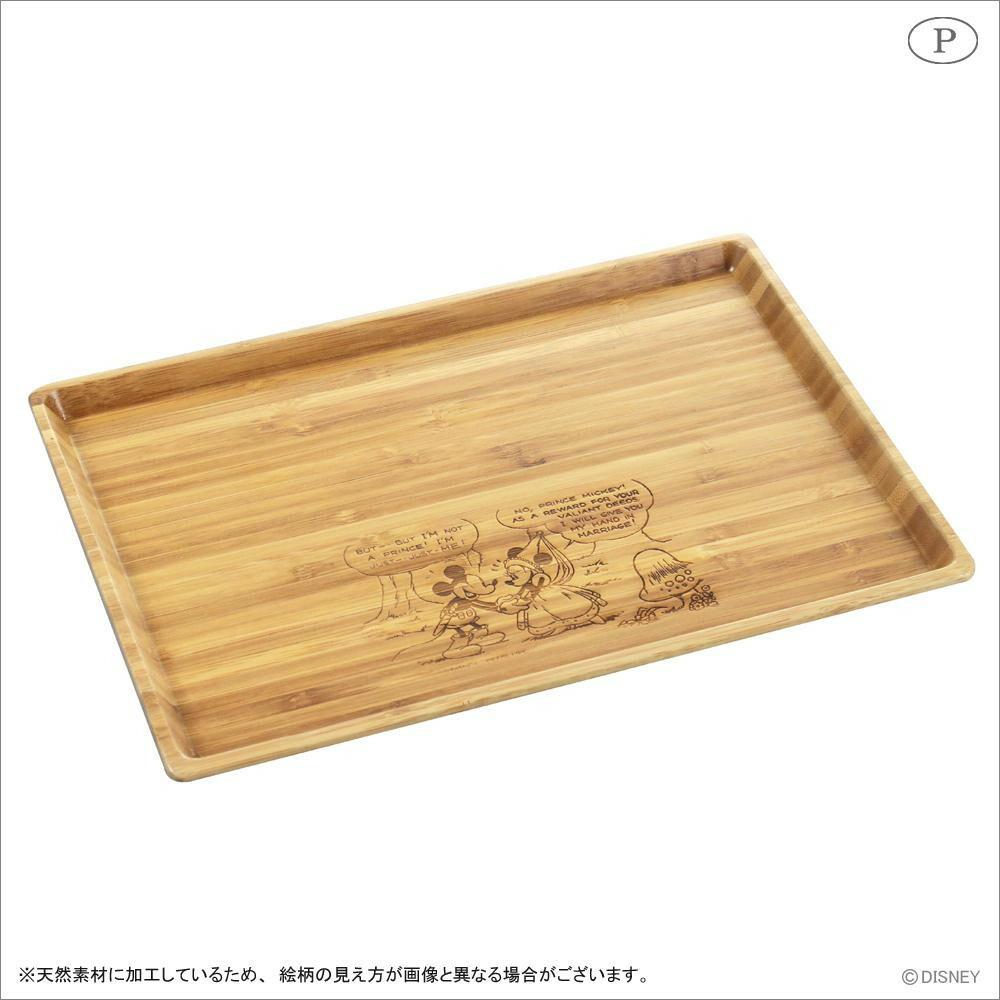 竹製角型プレート(L) ミッキーマウス MA-1626「通販百貨 Happy Puppy」