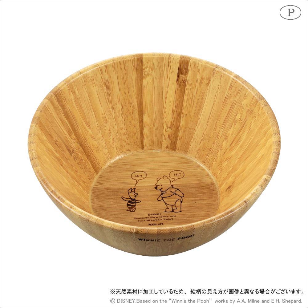 竹製ボウル(M) くまのプーさん MA-1630「通販百貨 Happy Puppy」