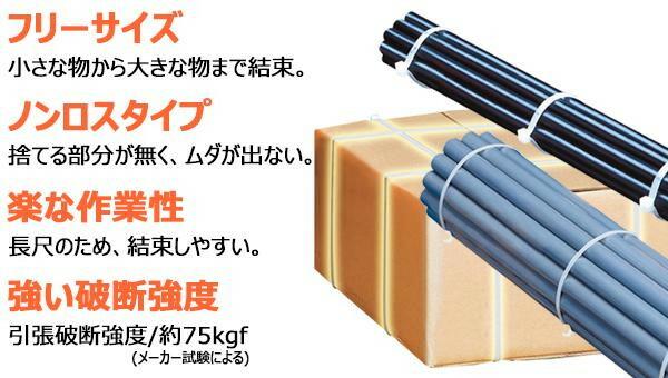 仁礼工業 フリーサイズ結束ベルト しめしめ80 キット HB80HS-50「NET Asahi」
