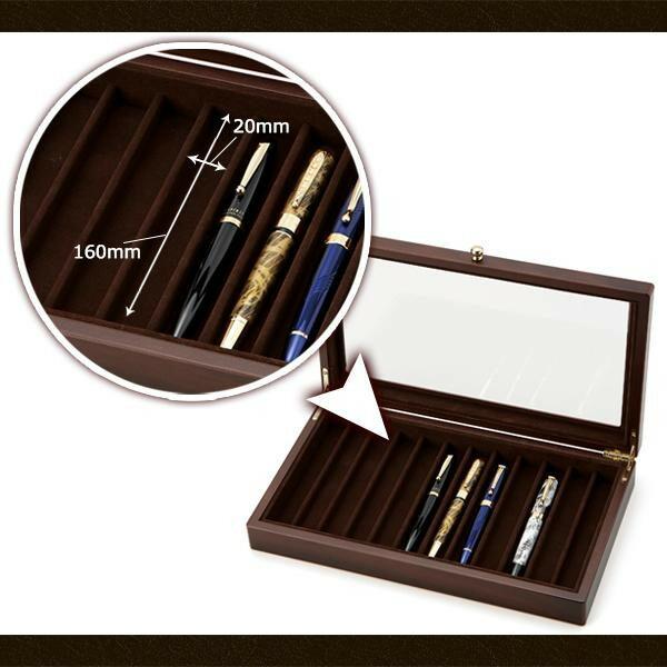 茶谷産業 Wooden Pen Case 木製ペンケース(コレクションケース) 12本用 856-128「NET Asahi」