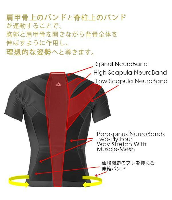 姿勢コントロールシャツ ポスチャーシャツ2.0 メンズ PULL「通販百貨 Happy Puppy」