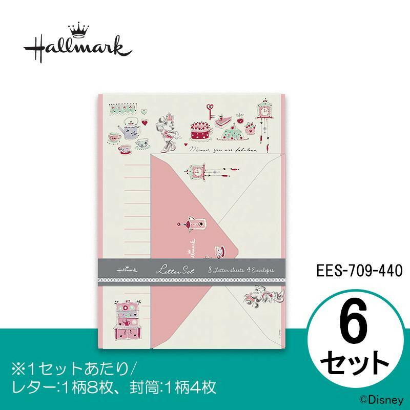 Hallmark ホールマーク Disney(ディズニー) レターセット ミニー スウィートピンク 6セット EES-709-440「NET Asahi」