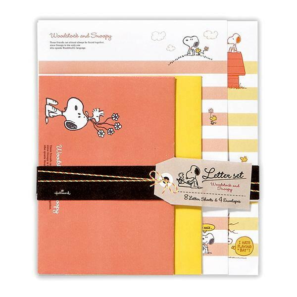 Hallmark ホールマーク SNOOPY(スヌーピー) レターセット ウッドストックとスヌーピー 6セット EES-723-514「NET Asahi」