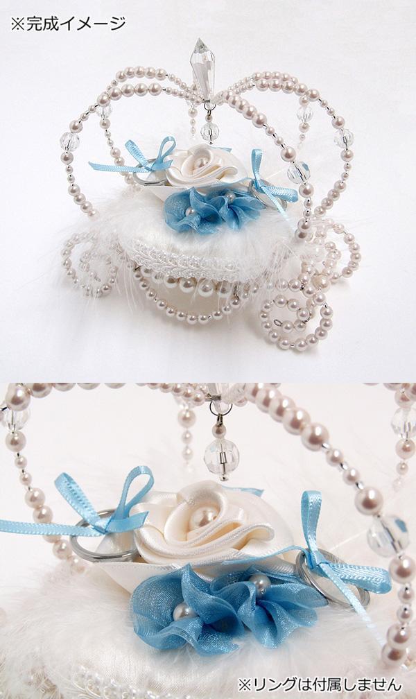 桂由美 YUMI KATSURA リングピローキット Rose Yumi Pearl Carriage(ローズユミパールキャリッジ) CK-51005A「通販百貨 Happy Puppy」