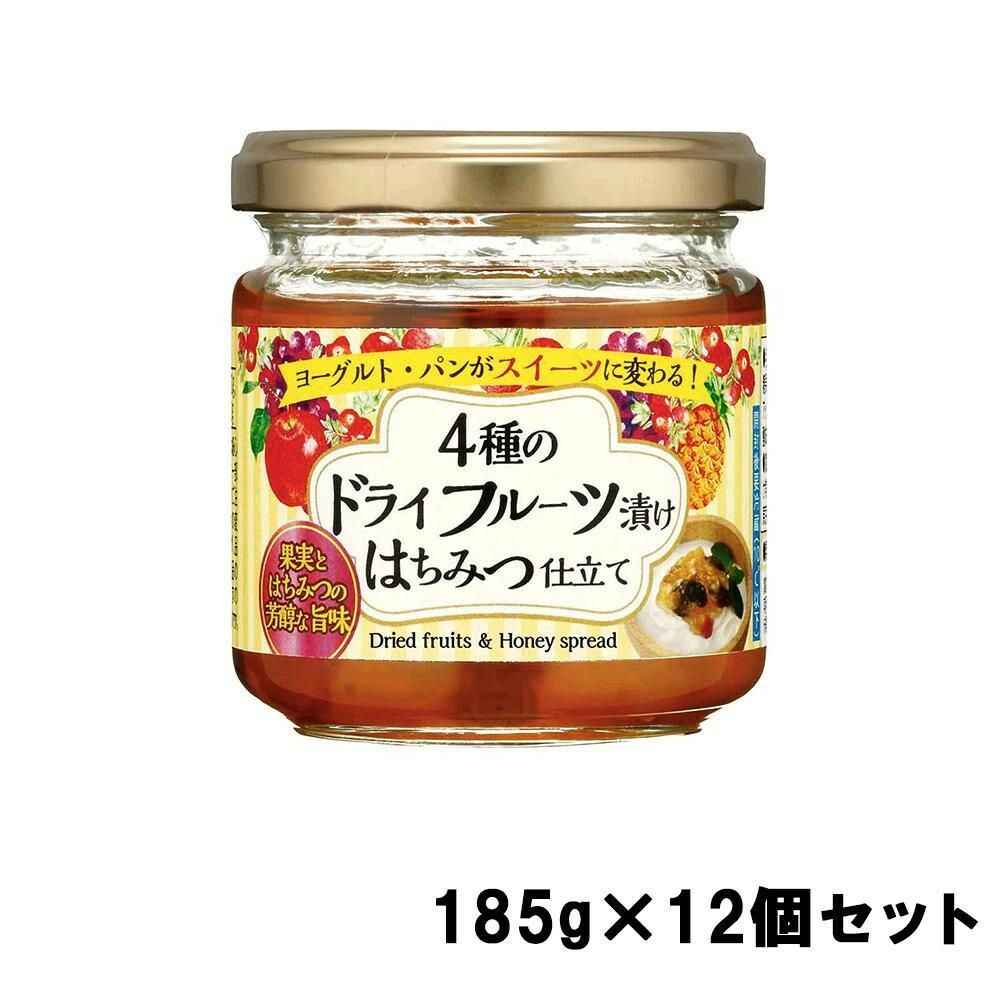 加藤美蜂園本舗 4種のドライフルーツ漬け はちみつ仕立て 185g×12個セット「通販百貨 Happy Puppy」