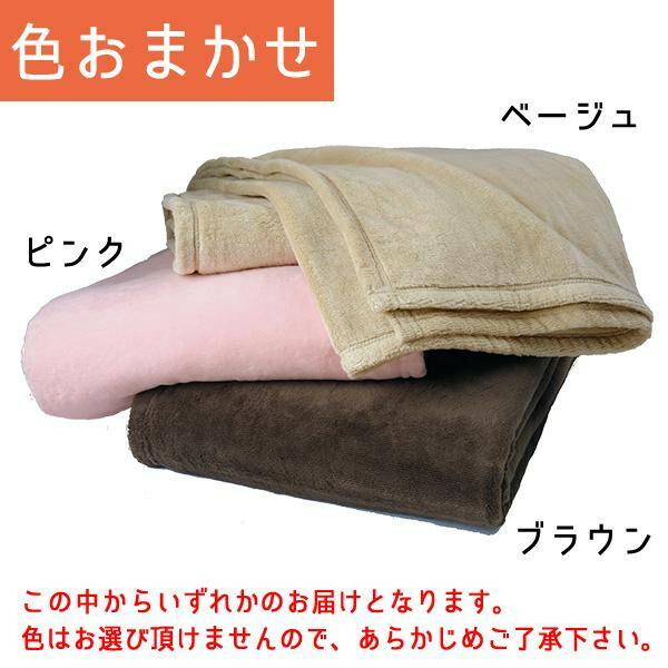 越後ふとん シール織綿毛布 シングル(約140×200cm) 色おまかせ 122454