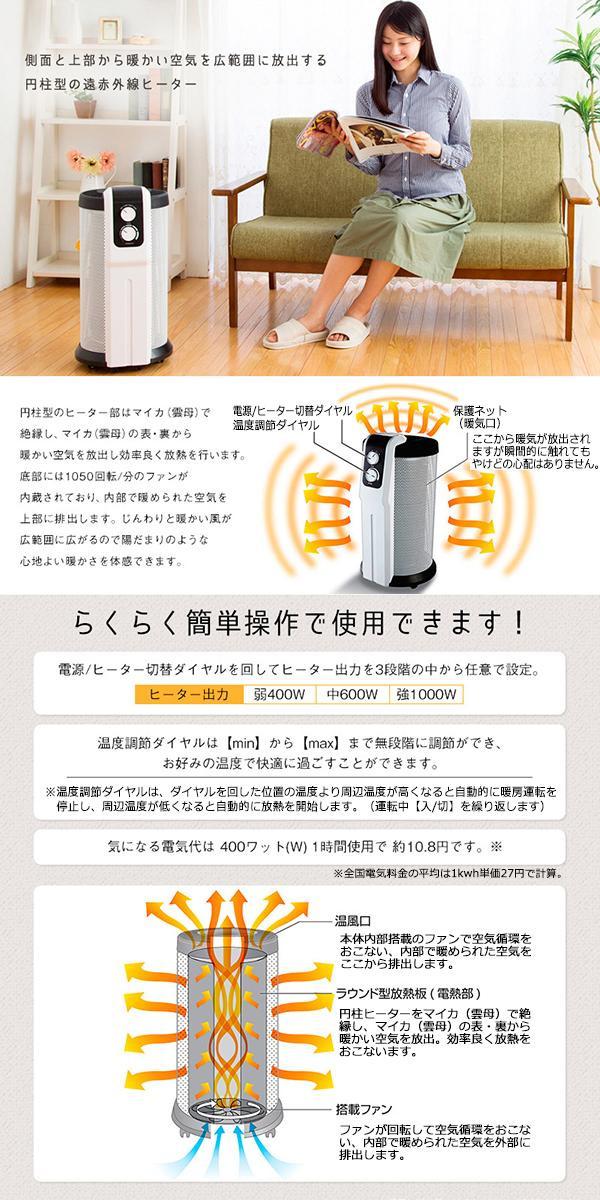 ROOMMATE 遠赤外線パノラマヒーター EB-RM8800A「通販百貨 Happy Puppy」