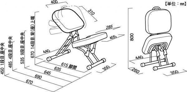 ルネセイコウ 正しい姿勢をサポートする可変式チェア セブンポーズチェア 日本製 完成品 SPC-14「通販百貨 Happy Puppy」
