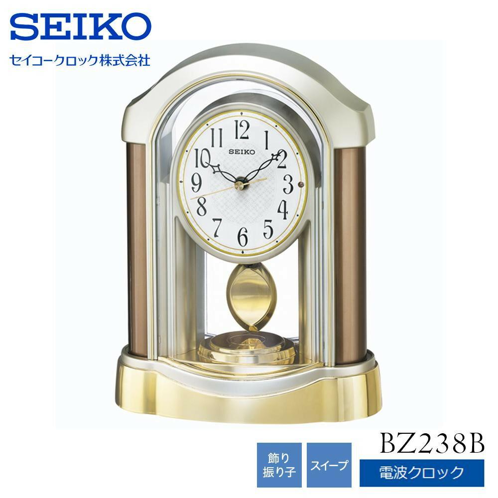 SEIKO セイコークロック 電波クロック 置時計 スタンダード BZ238B「通販百貨 Happy Puppy」