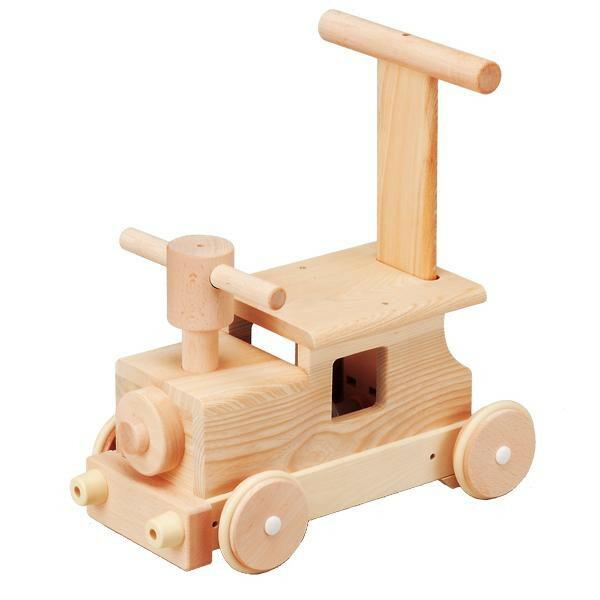 日本製の木製玩具 平和工業 MOCCO 森の汽車ポッポ W-027「通販百貨 Happy Puppy」