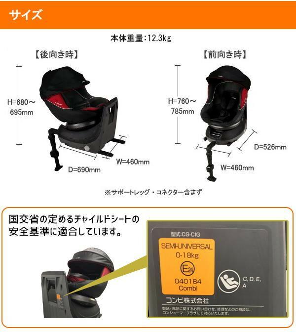 Combi(コンビ) チャイルドシート クルムーヴ ISOFIX エッグショックPJ ブラック 適応体重:18kg以下 (参考:新生児〜4才頃)「通販百貨 Happy Puppy」